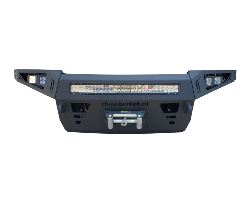 Chassis Unlimited CUB940401 Sierra Front Winch Bumper For 19-20 Sierra 1500 Sensors Not Included Octane Series