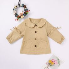 Baby Girl Frill Trim Button Through Blouse