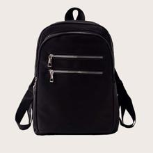 Dual Zip Front Backpack