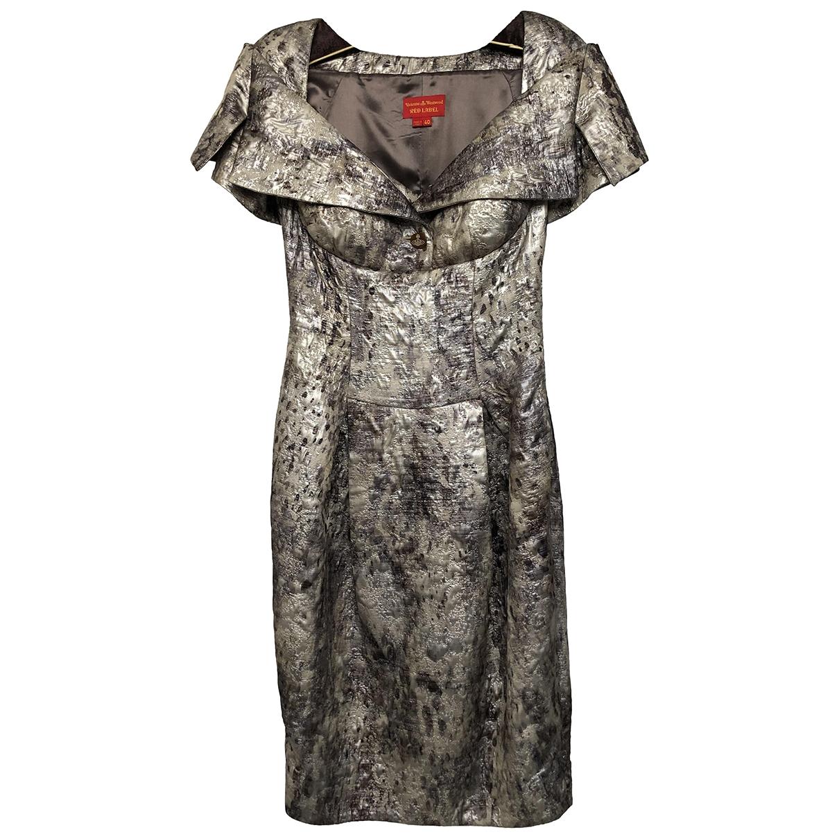 Vivienne Westwood Red Label \N Kleid in  Metallic Mit Pailletten
