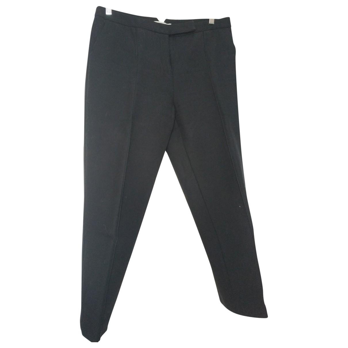 Gerard Darel \N Black Cotton Trousers for Women 42 FR