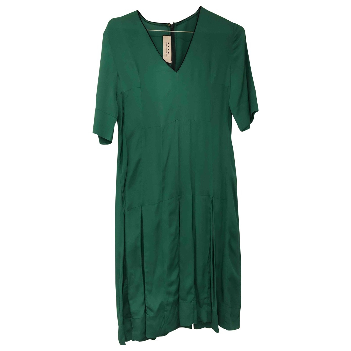 Vestido midi de Seda Marni