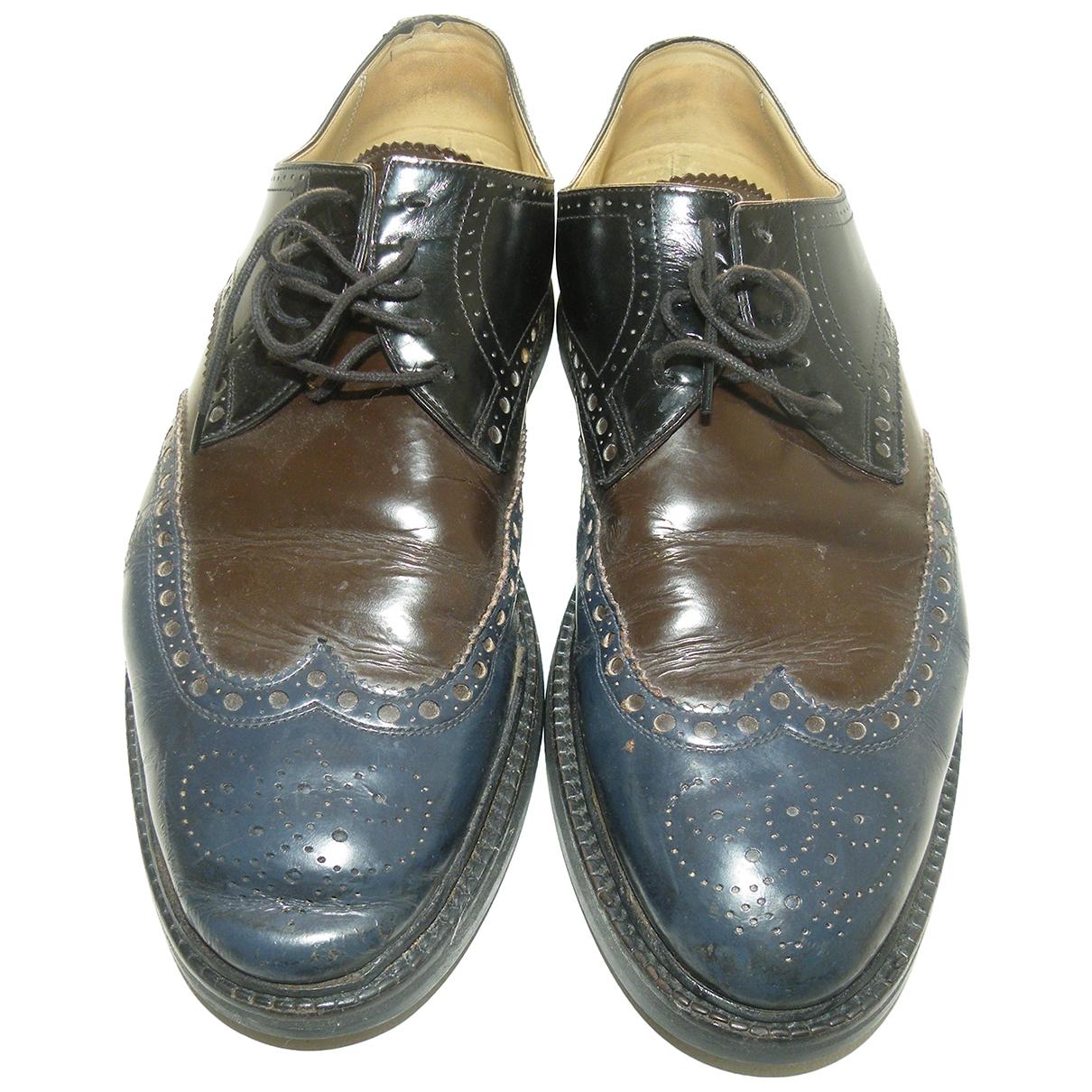 Hermès \N Black Leather Lace ups for Men 41 EU