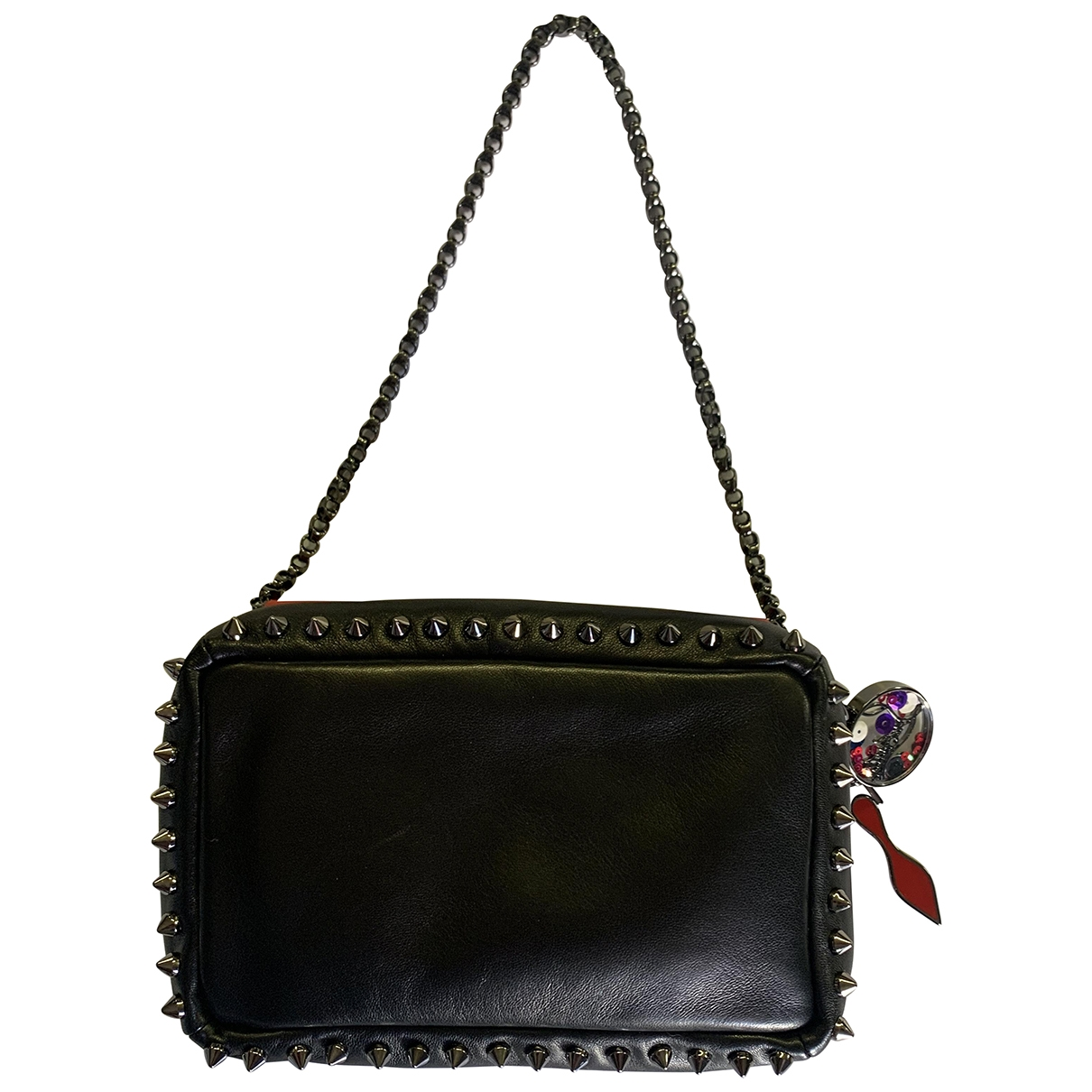 Christian Louboutin \N Black Leather Clutch bag for Women \N