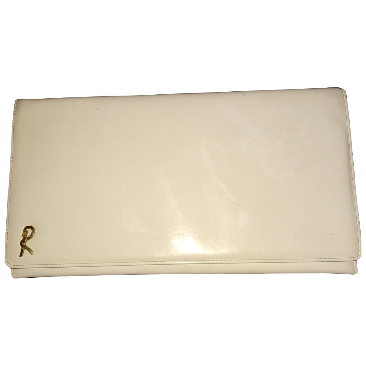 - Pochette   pour femme en cuir - blanc