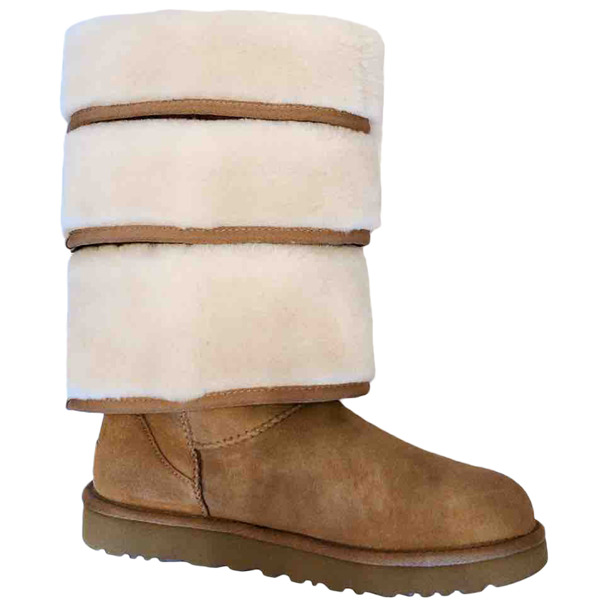 Y/project \N Brown Leather Boots for Women 39 EU