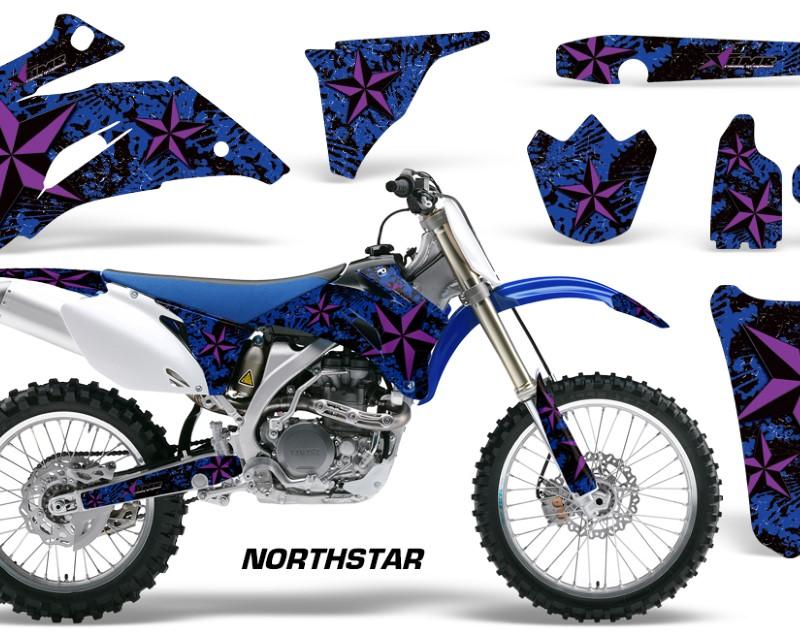 AMR Racing Dirt Bike Graphics Kit Decal Wrap For Yamaha YZ250F YZ450F 2006-2009áNORTHSTAR PURPLE BLUE