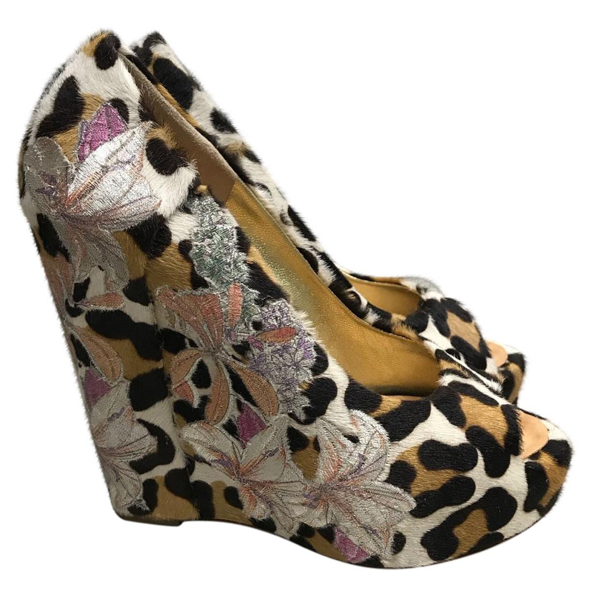 Giuseppe Zanotti \N Multicolour Pony-style calfskin Heels for Women 35 EU