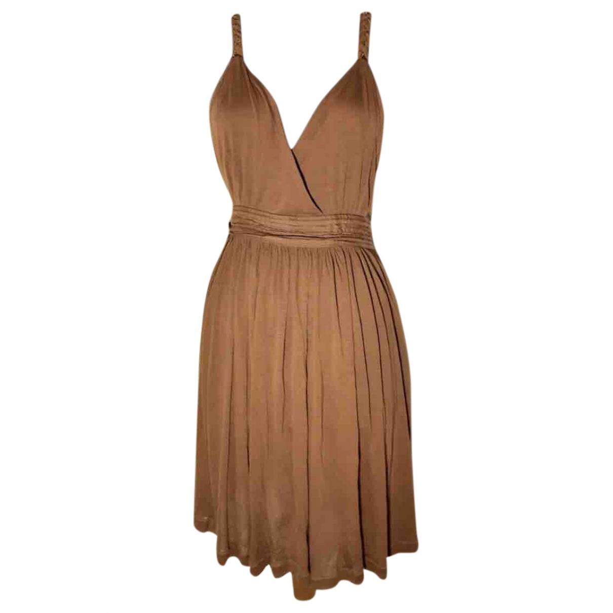 Massimo Dutti \N Kleid in  Braun Baumwolle
