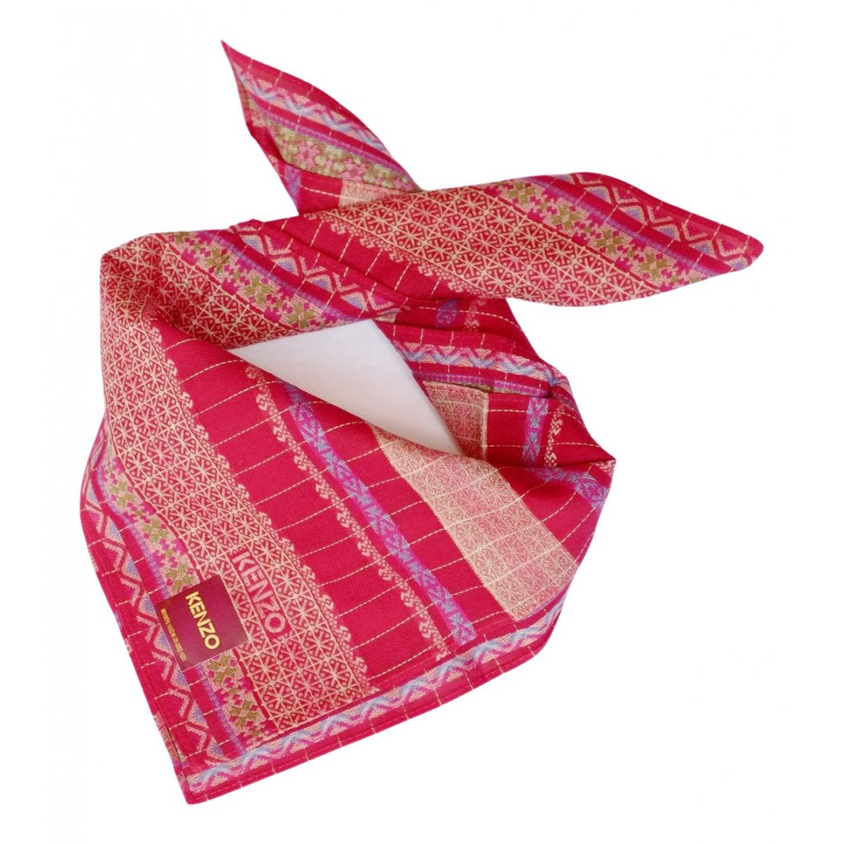 Kenzo \N Schal in  Rot Baumwolle