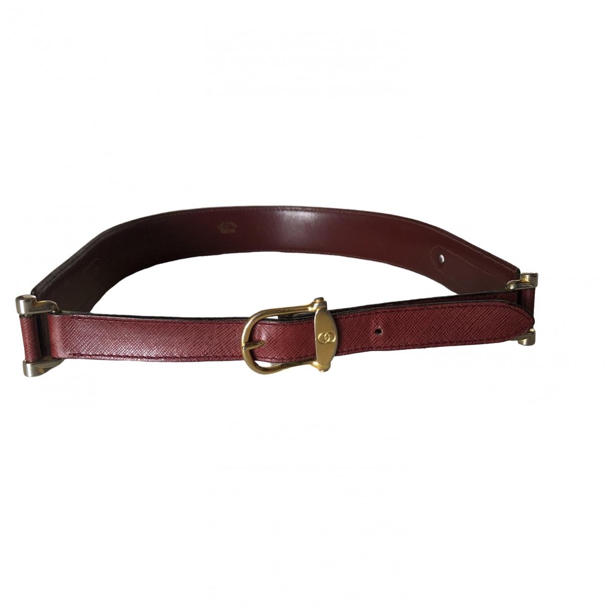Gucci \N Burgundy Leather belt for Women 75 cm