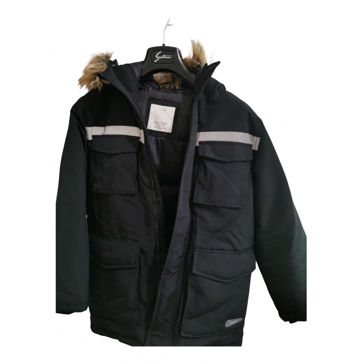 Zara \N Jacke, Maentel in  Schwarz Polyester