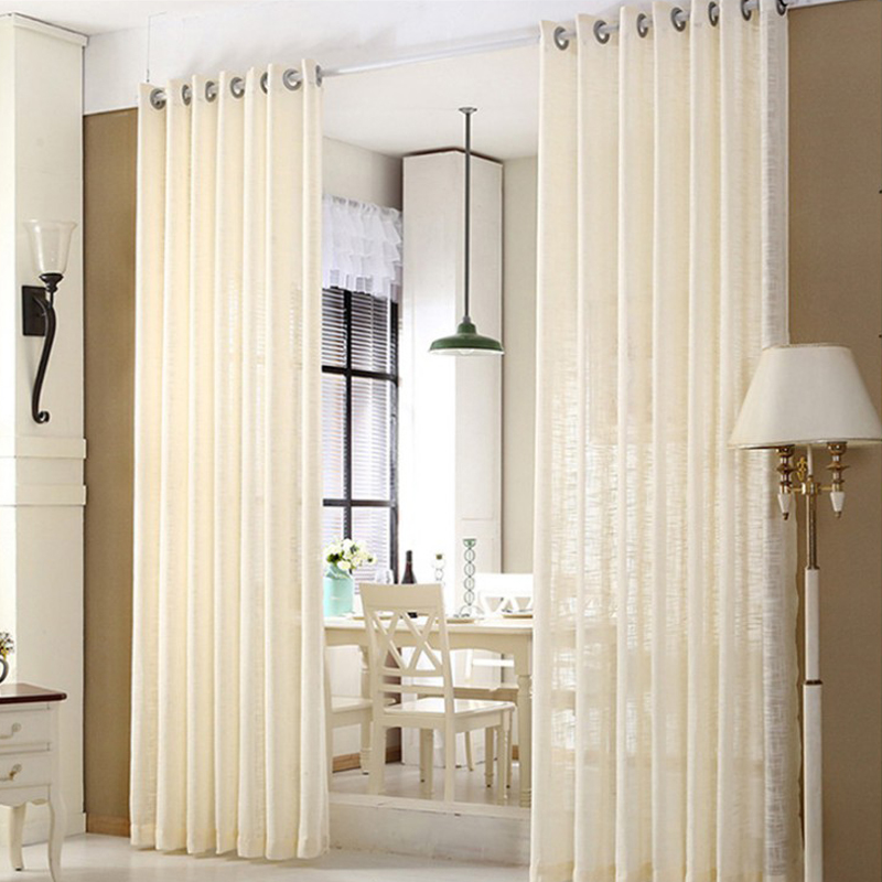 Colored Linen Semi-Voile Sheer Curtains Grommet Top