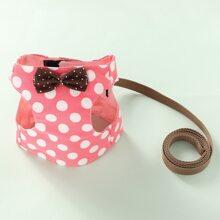 1pc Polka Dot Dog Harness & 1pc Leash