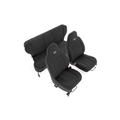 Rough Country Neoprene Seat Cover Set (Black) - 91022