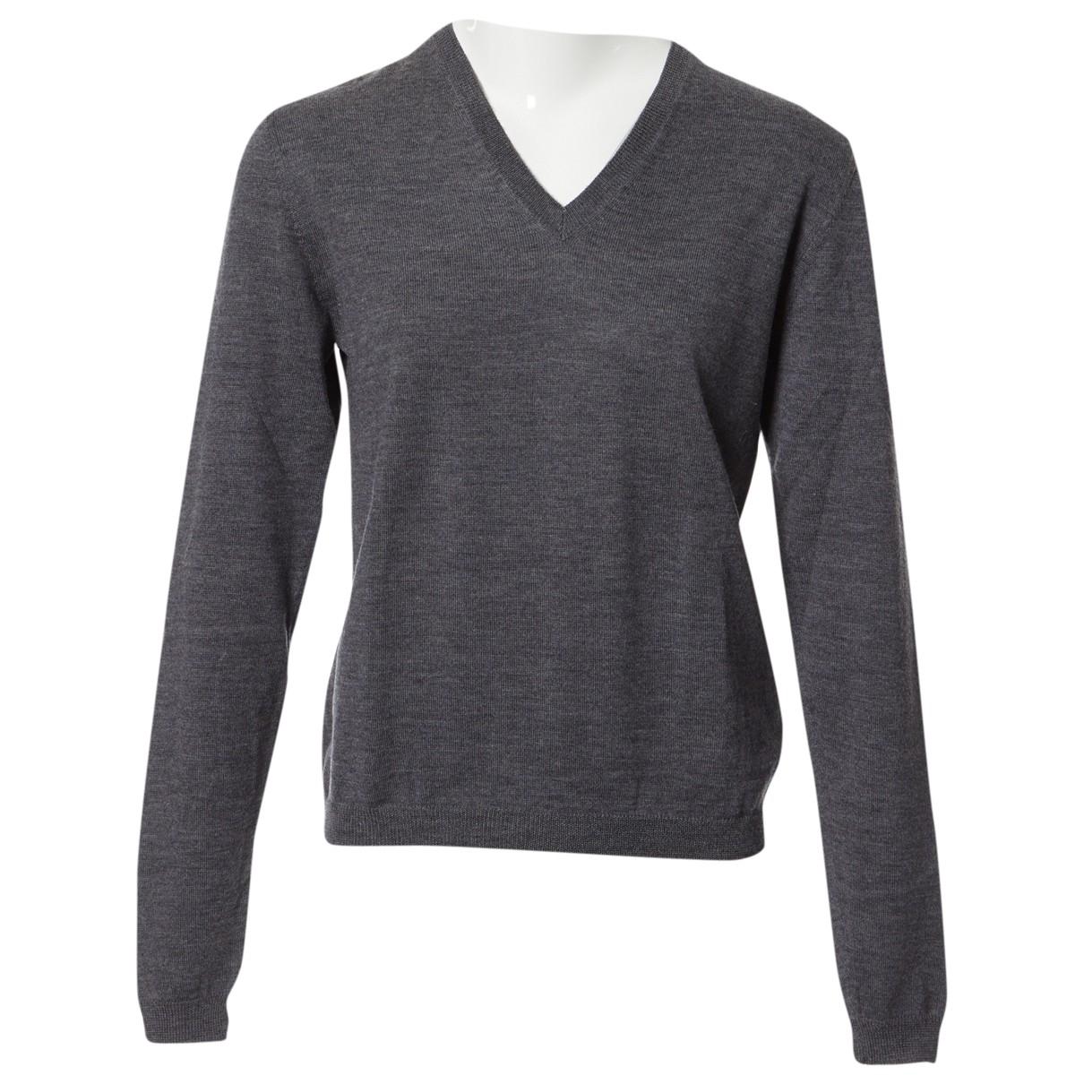 Prada - Pull   pour femme en laine - gris