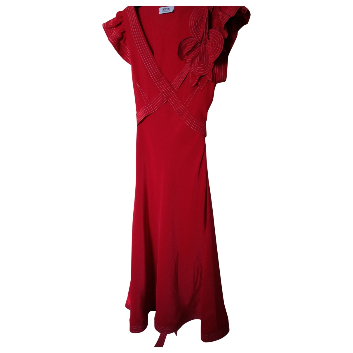 Moschino Cheap And Chic \N Red Silk dress for Women 38 IT