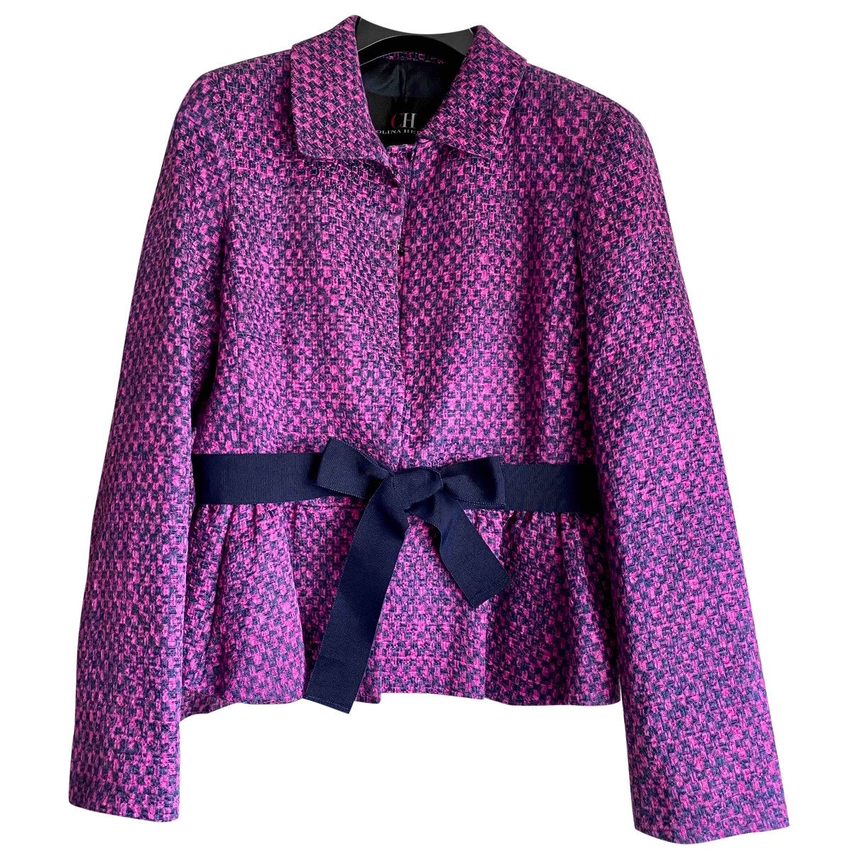 Carolina Herrera \N Navy Cotton jacket for Women 4 US