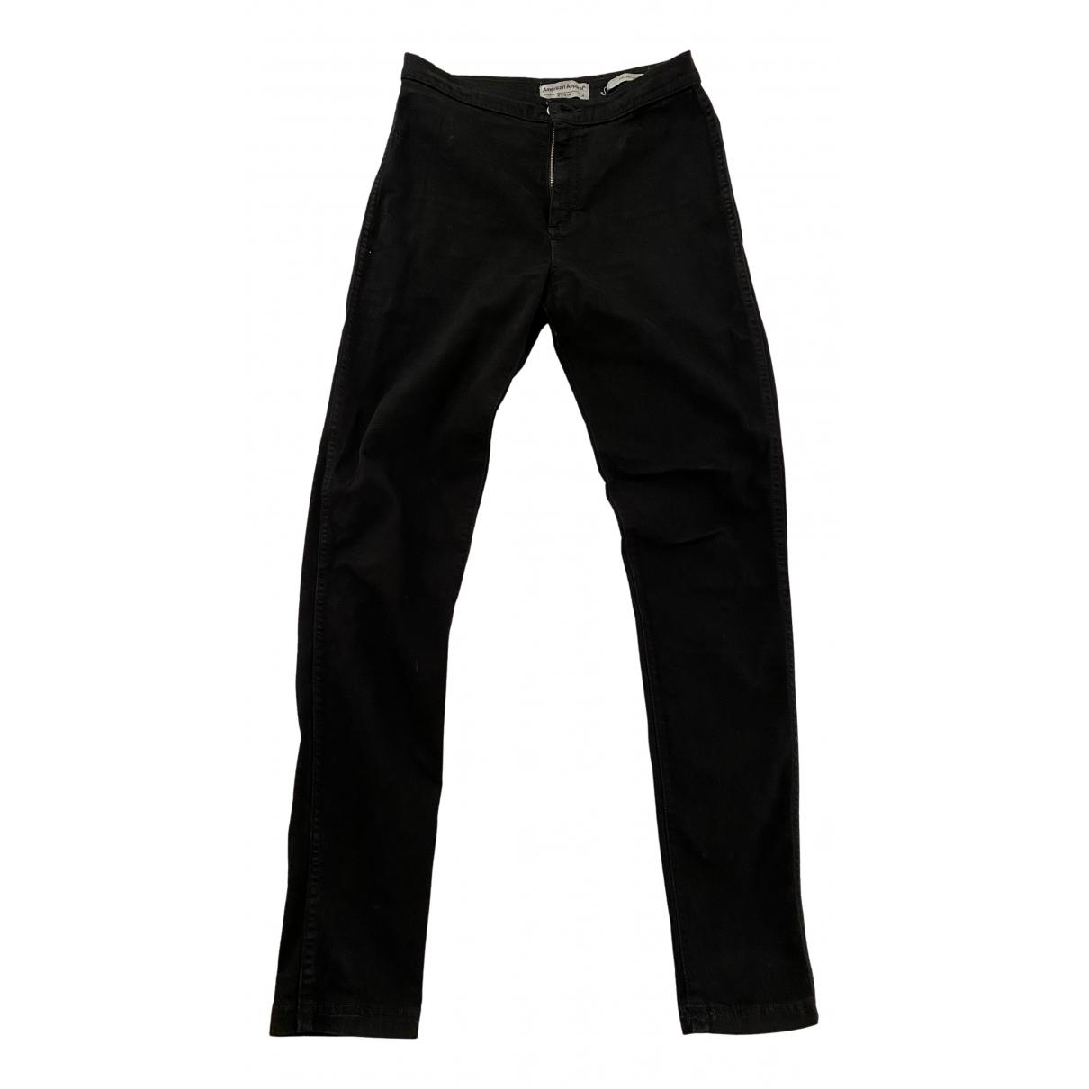 American Apparel N Black Cotton - elasthane Jeans for Women 29 US