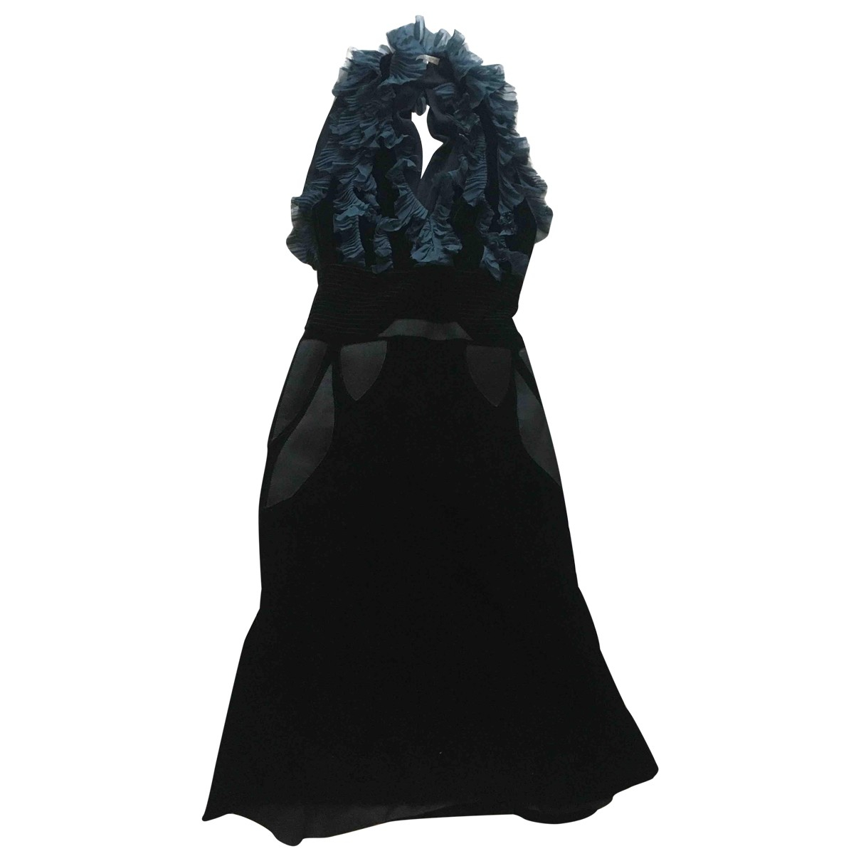 Bottega Veneta \N Kleid in  Schwarz Samt