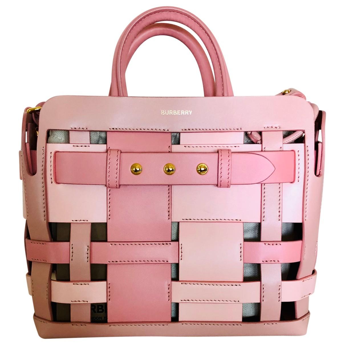 Burberry The Belt Handtasche in  Rosa Leder