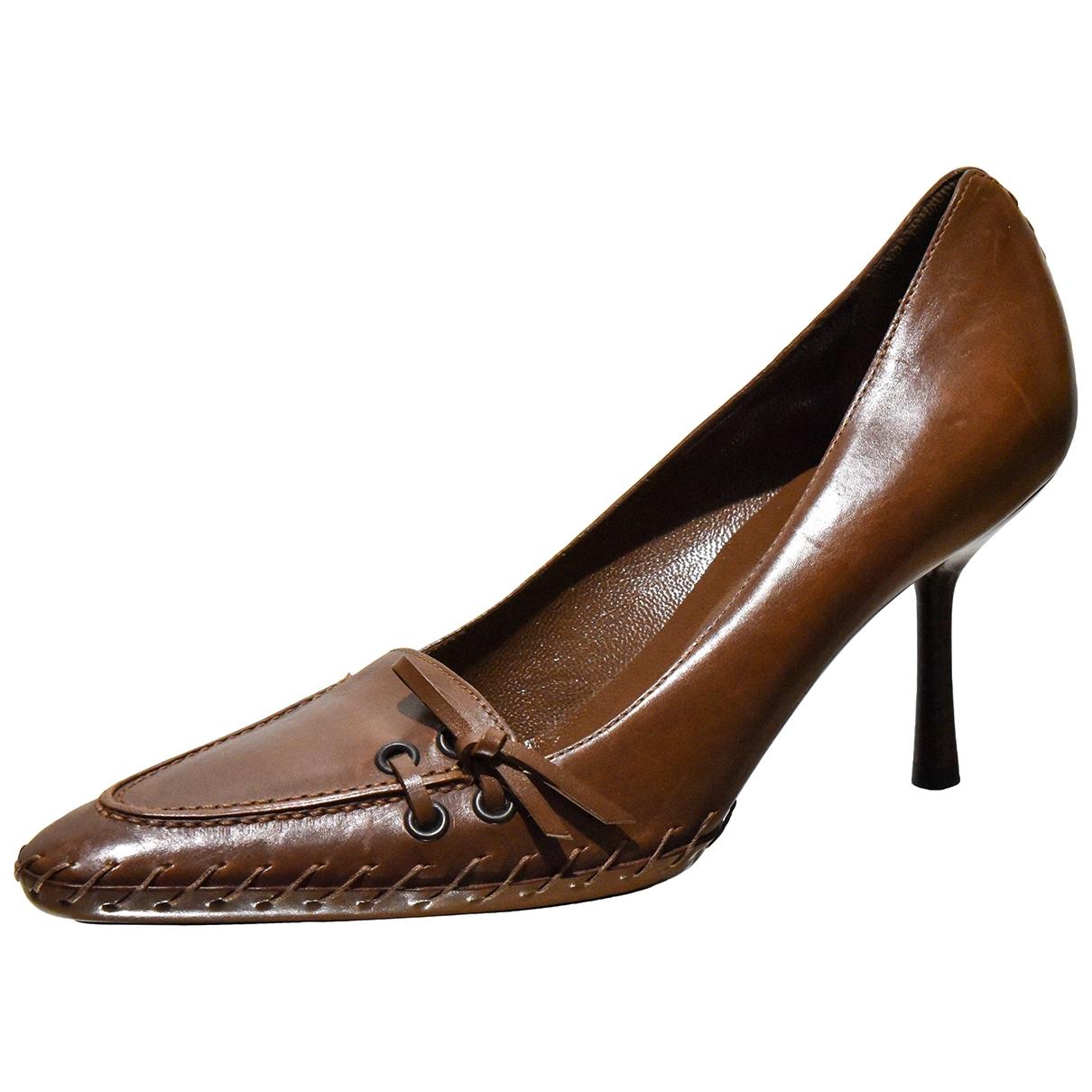 Gucci \N Camel Leather Heels for Women 38.5 EU