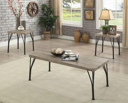 Majorca Collection CM4279-3PK 3-Piece Living Room Table Set with Coffee Table and 2 End Tables in Gray and Dark