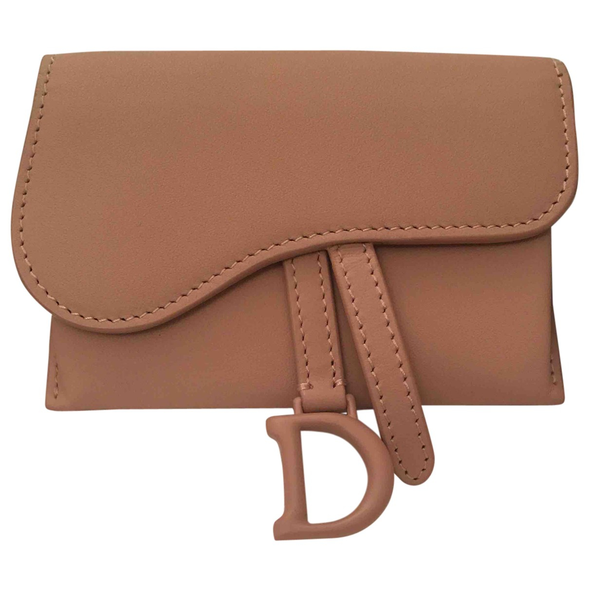 Dior - Pochette Saddle pour femme en cuir - rose