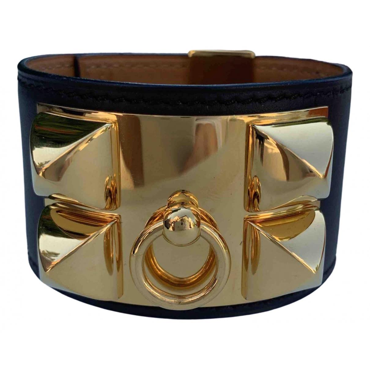 Hermes - Bracelet Collier de chien  pour femme en cuir - marron