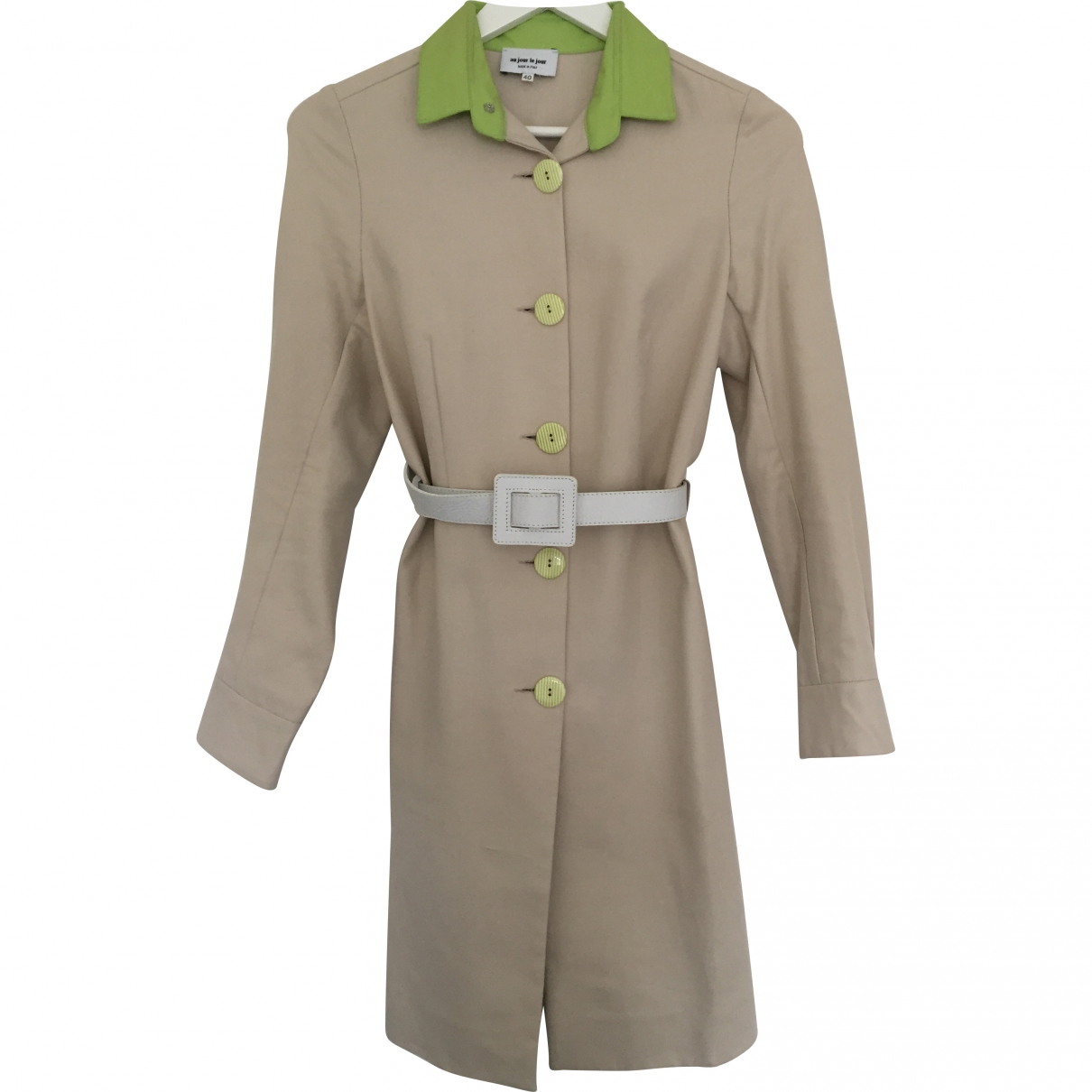 Au Jour Le Jour \N Beige Cotton coat for Women 40 IT