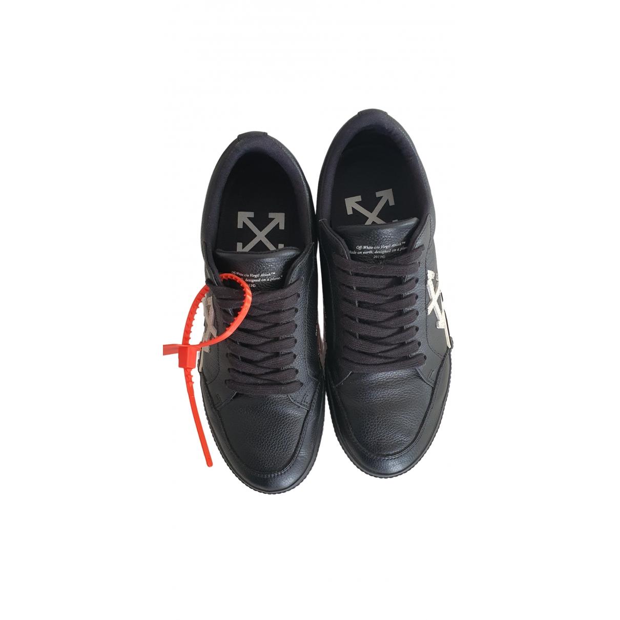 Off-white - Baskets Vulcalized pour homme en cuir - noir