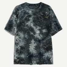 Camiseta de hombres de manga corta de tie dye