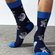 Socken mit Astronaut Muster