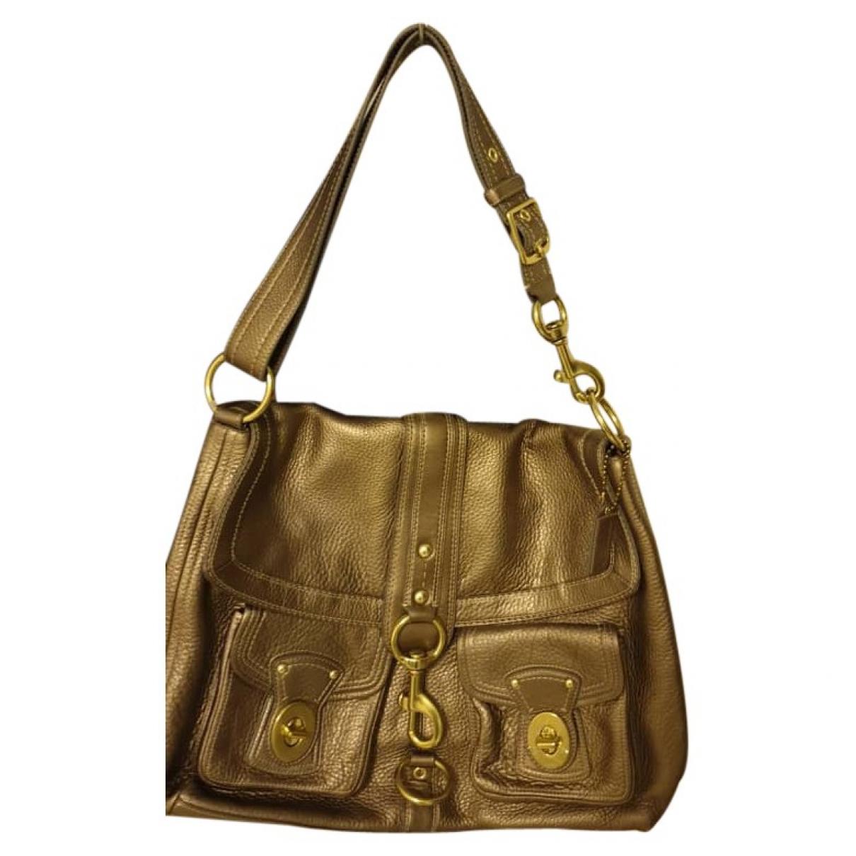 Coach \N Gold Leather handbag for Women \N