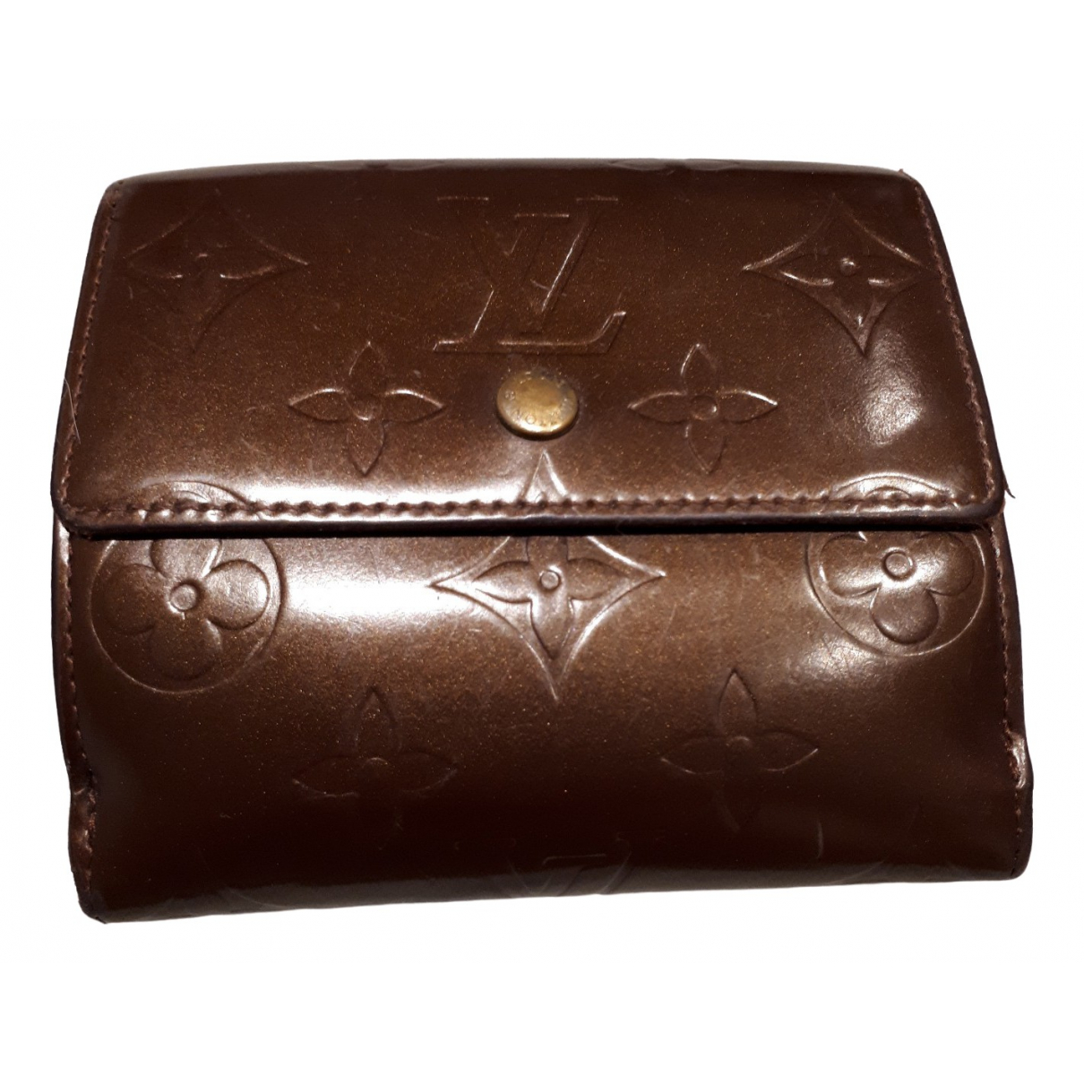 Louis Vuitton \N Burgundy Patent leather wallet for Women \N