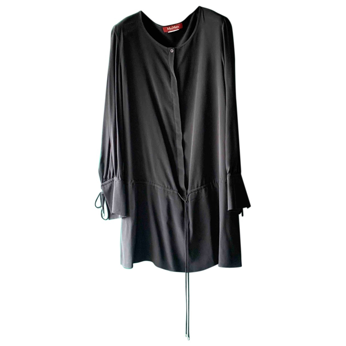 Max Mara Studio N Black Silk  top for Women 42 IT