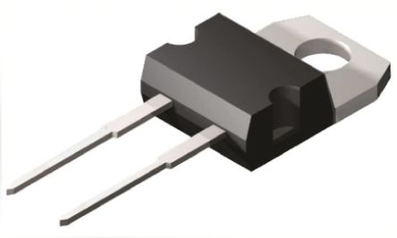ON Semiconductor ON Semi 200V 20A, Silicon Junction Diode, 2-Pin TO-220 MUR2020RG (2)