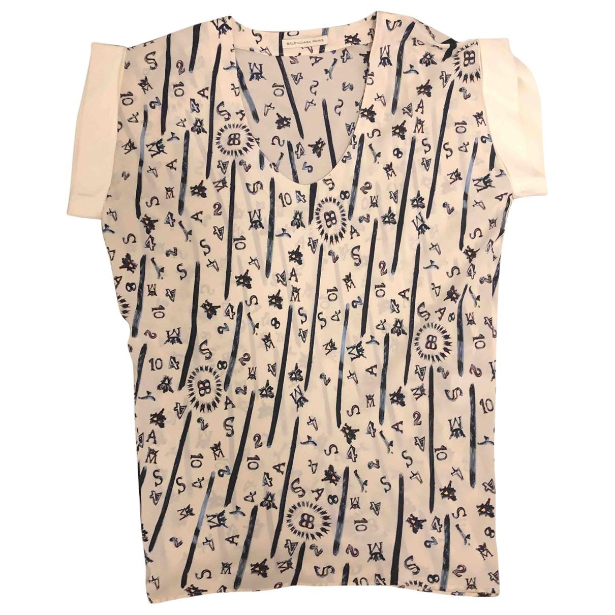 Balenciaga - Robe   pour femme en soie - blanc
