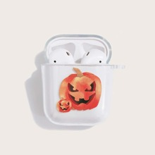 Halloween Pumpkin Clear Airpods Case