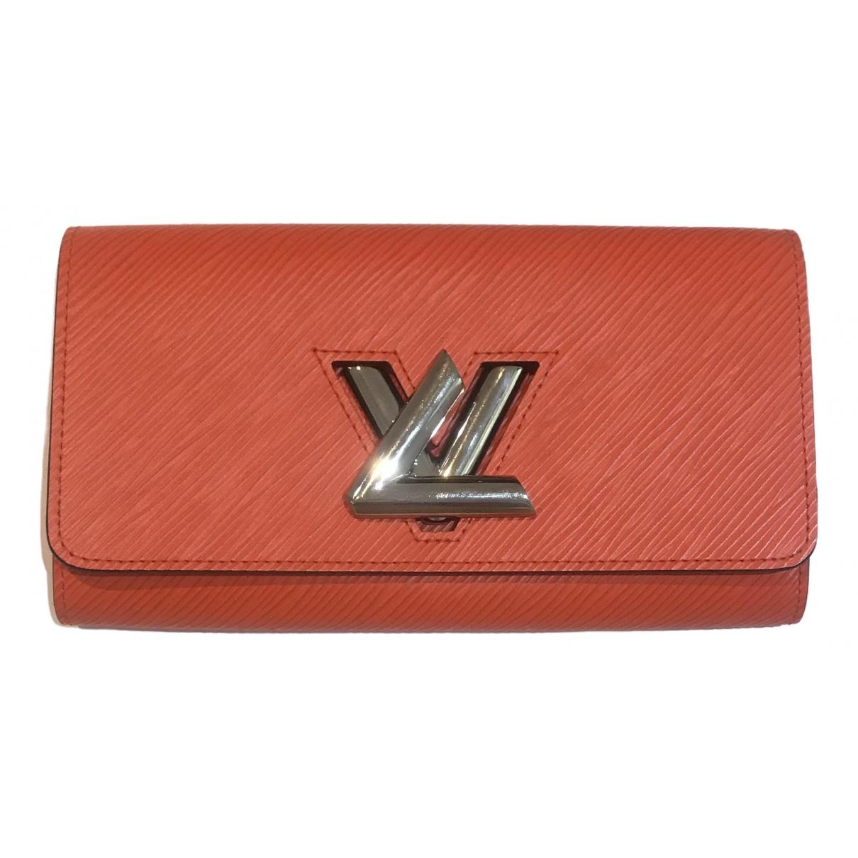 Louis Vuitton - Portefeuille Twist pour femme en cuir - orange