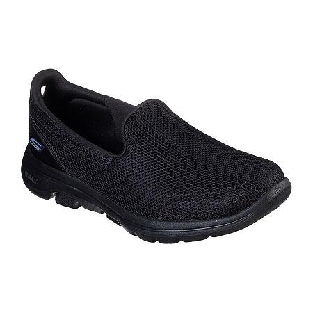 Skechers Go Walk 5 Womens Walking Shoes, 8 Wide, Black