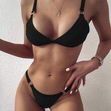 Bañador bikini tanga triangulo con aro
