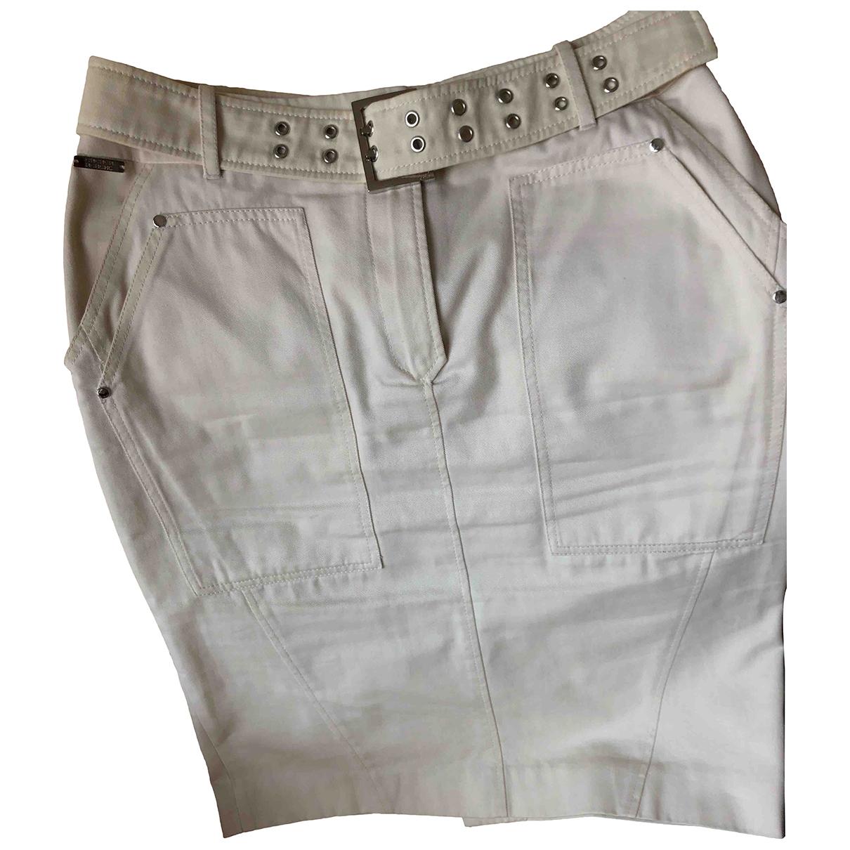 Carolina Herrera - Jupe   pour femme en coton - elasthane - beige