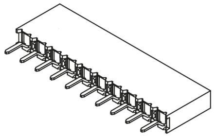 Samtec , BCS 2.54mm Pitch 10 Way 1 Row Straight PCB Socket, Through Hole, Solder Termination