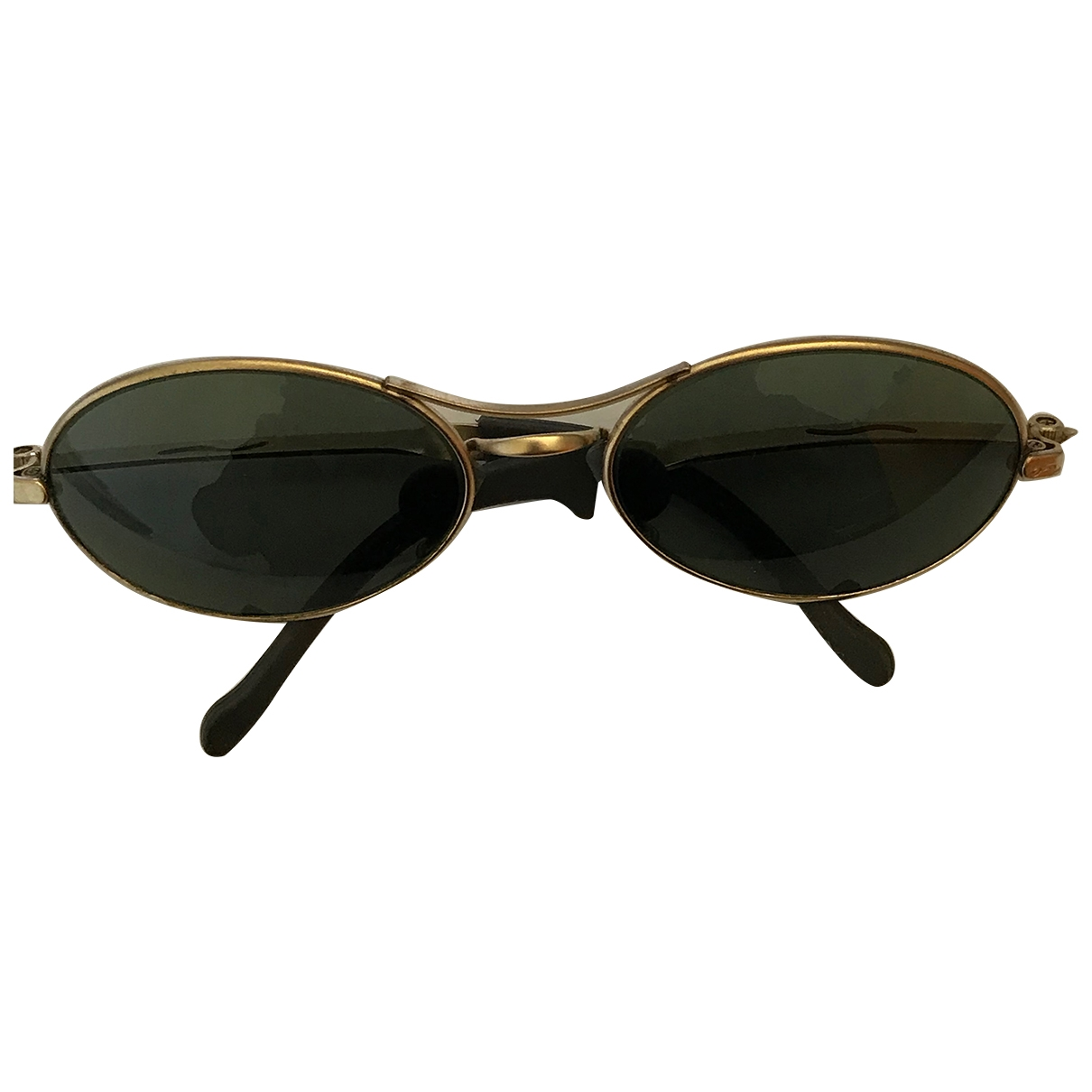 Ray-ban Oval Gold Metal Sunglasses for Men \N
