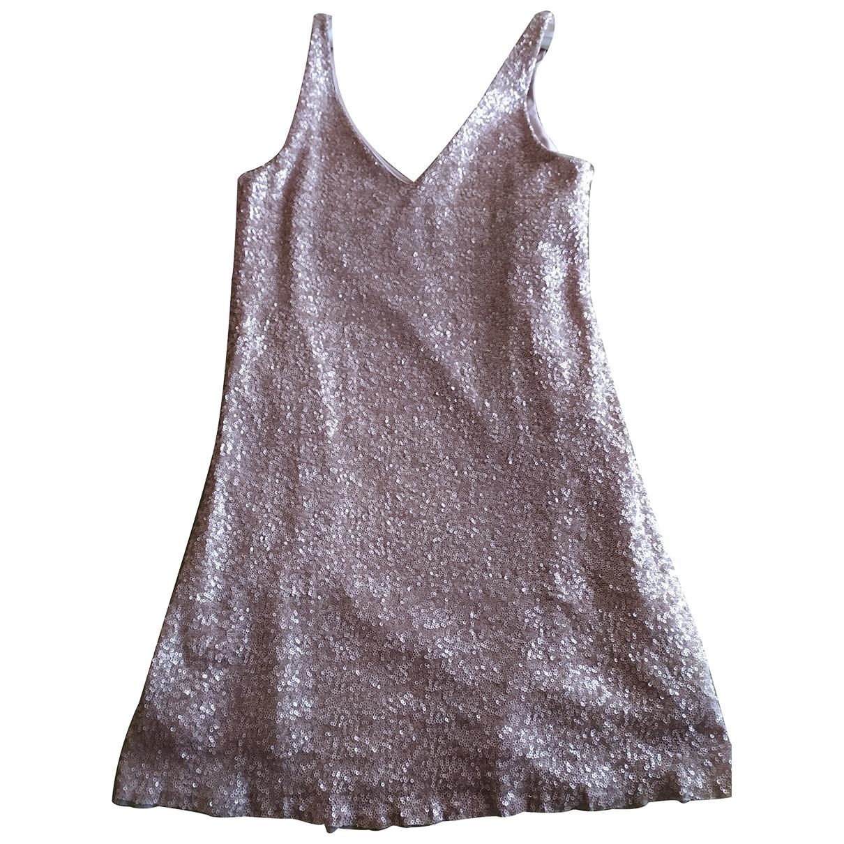 Zara \N Kleid in  Gold Viskose