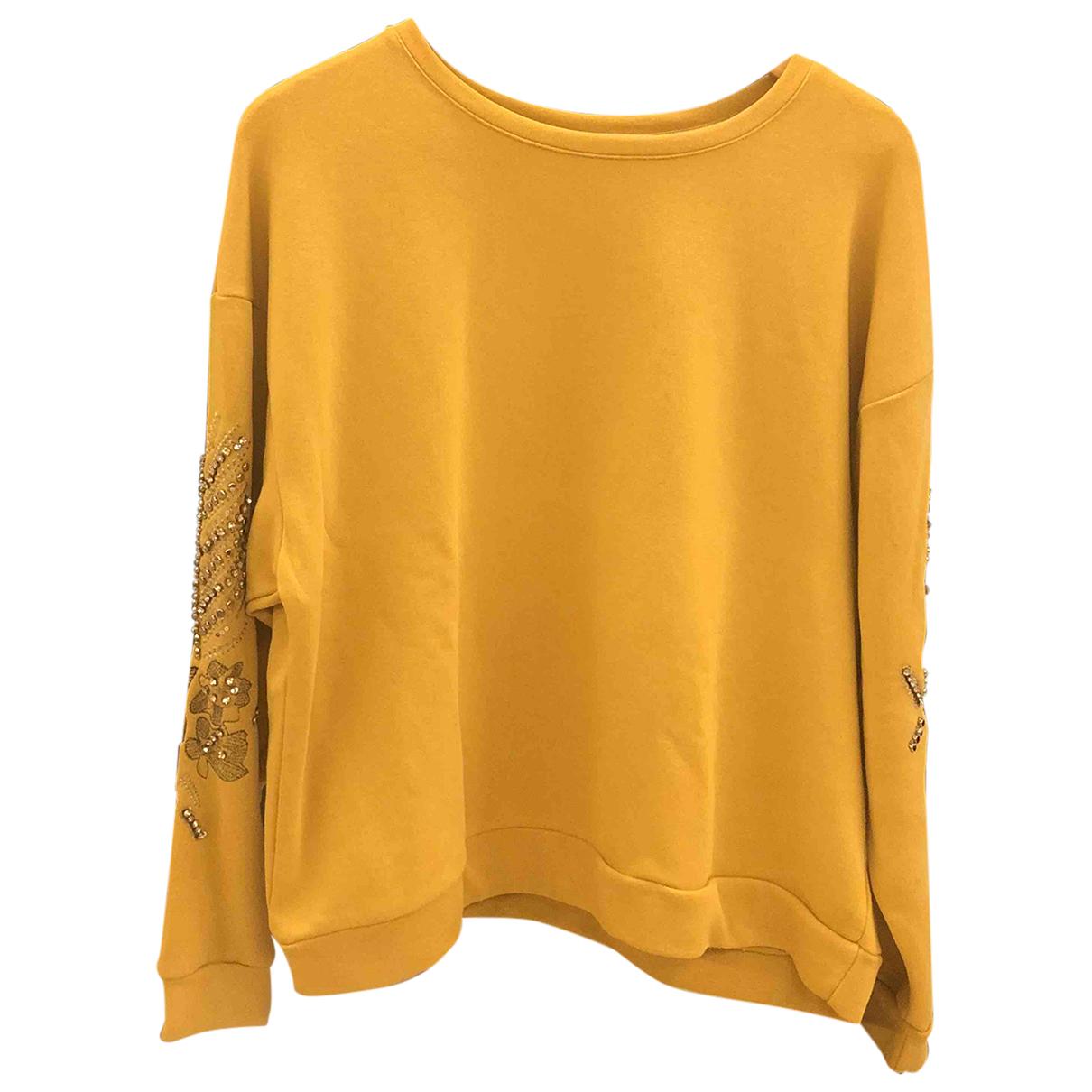 - Pull   pour femme en coton - jaune