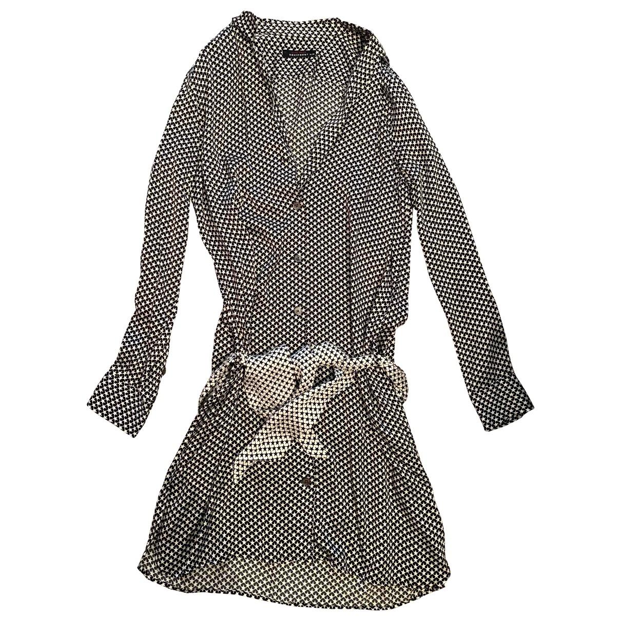 Equipment - Robe   pour femme en soie - noir