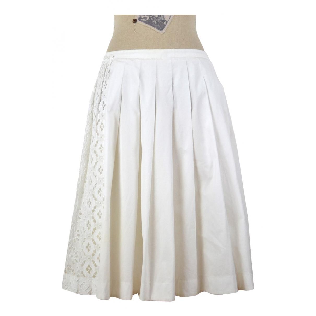 N°21 \N White Cotton skirt for Women 44 IT