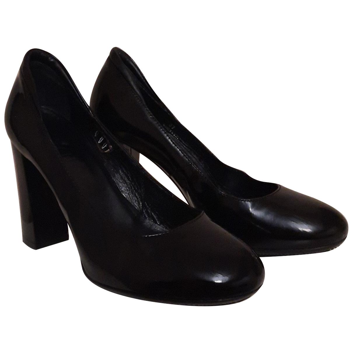 Hogan - Escarpins   pour femme en cuir - noir